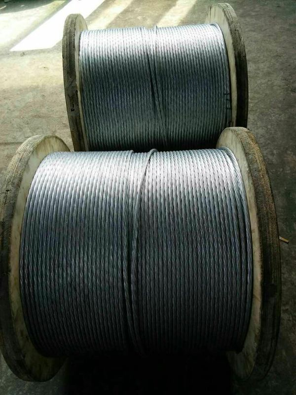 Hot Dipped Galvanized Steel Wire Cable , Zinc Coated Steel Wire For Overhead Ground Wire